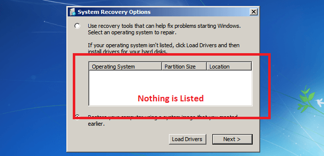 How To Fix Unlisted Windows in System Recovery Options