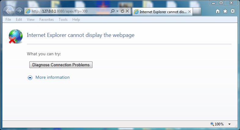 Internet Explorer Cannot Display The Webpage Error