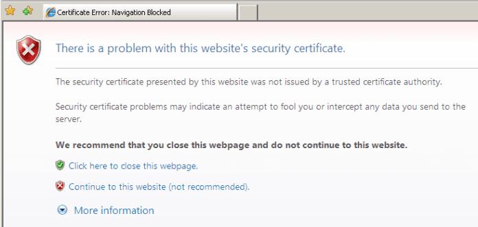 Security Certificate Error – Solutions | DESKDECODE.COM