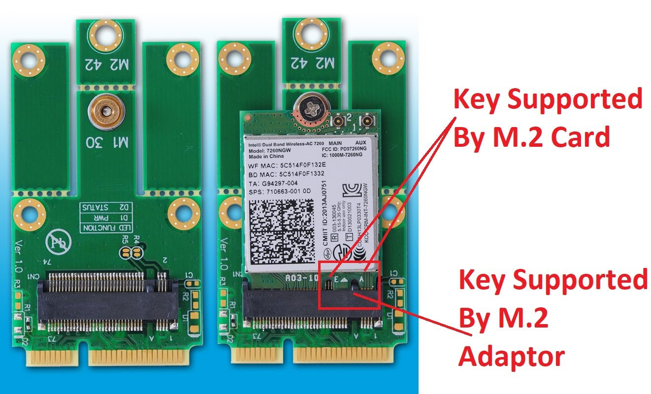 M.2 to Mini PCI-E Express Adapter Converter Support Full Size //Half Size MPCIe Slot NGFF